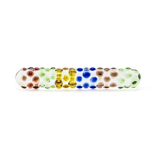 Rainbow Glass Dildo