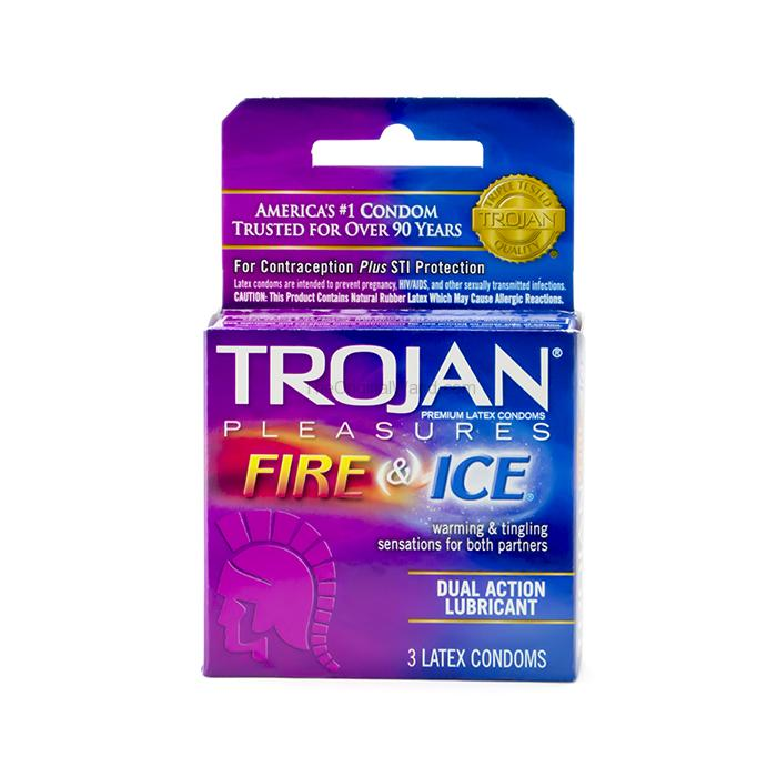 Trojan Pleasures Fire & Ice Condoms 3 Pack
