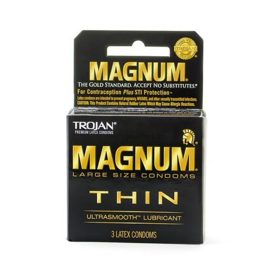 Trojan Magnum Thin Condoms 3 Pack