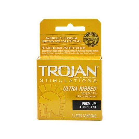 Trojan Ultra Ribbed Condoms 3 Pack