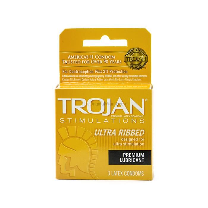 Trojan Ultra Ribbed Condoms 3 Pack